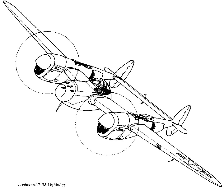 Line Drawing P 38 Lightning Related Keywords Suggestions