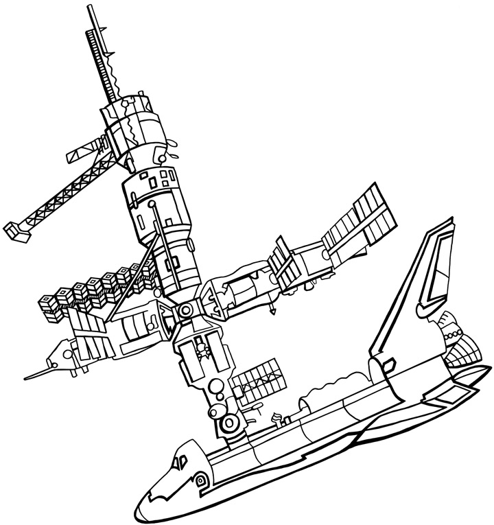 Space Station Coloring Pages - Pics about space