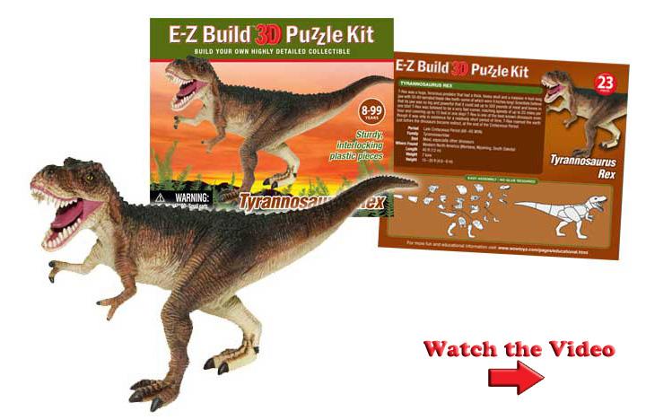 WowToyz - E-Z Build 3D Puzzles - Dinosaurs
